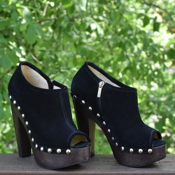 59b21f44555c6 Jimmy Choo Shoes - Jimmy Choo Urge Peep-Toe Clog Booties in 39 EU